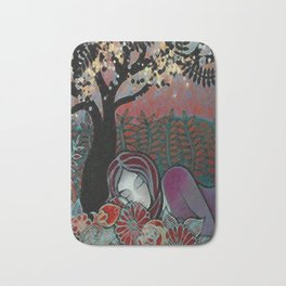 Having a rest in the forest Bath Mat