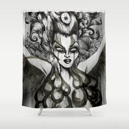 Out Of The Ashes She Raises Shower Curtain