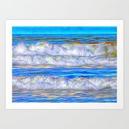 Abstract beautiful ocean waves Art Print