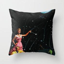 Luxurious Lunar Larking Throw Pillow