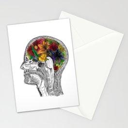 Floral Brain Anatomy Stationery Cards