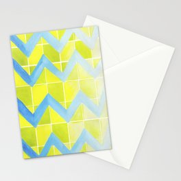 Chevron Checkers.  Stationery Cards