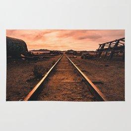 Train Tracks in the Desert Rug