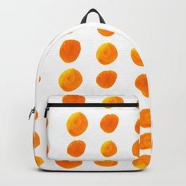 Bright orange polka dot pattern Backpack