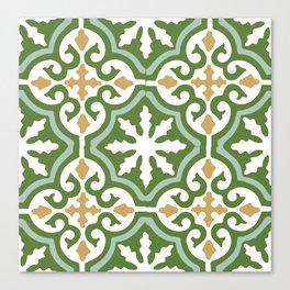 Geometric Mosaic Tile Pattern Canvas Print