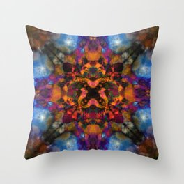 Psychedelic kaleidoscope cloud pattern Throw Pillow