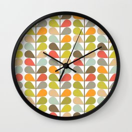 Retro Mid Century Modern Pattern 3 Wall Clock