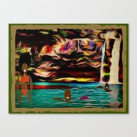 postcard Canvas Prints featuring Postcard by Holly Williams