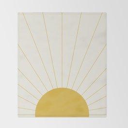 Sunrise / Sunset Minimalism Throw Blanket