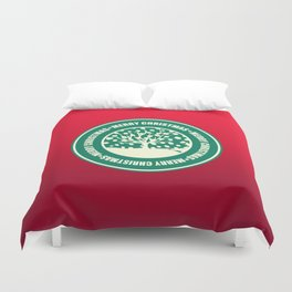 """Merry Christmas"" Coffee Cup Funny Meme Duvet Cover"
