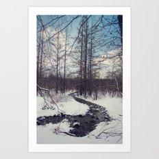 Snow River Art Print