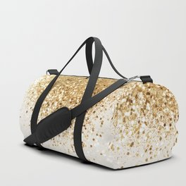 Sparkling Gold Glitter Glam #2 #shiny #decor #art #society6 Duffle Bag