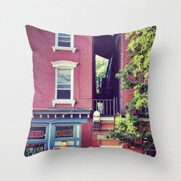 Tacos on Main Street - Beacon NY Throw Pillow
