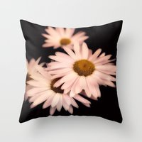daisies Throw Pillows featuring Daisies by Christine Belanger
