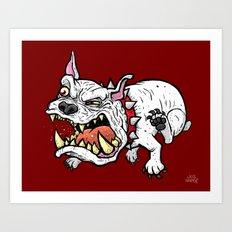 Raging Bulldog Art Print
