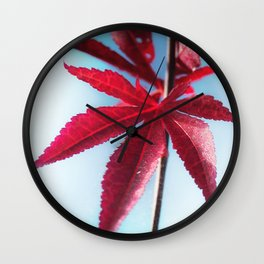 Red Leaves moments Wall Clock