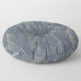 Forest autumn greece Floor Pillow