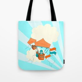 Pop Up Tent Balloons Tote Bag