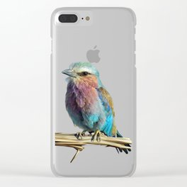 Lilac Roller Clear iPhone Case