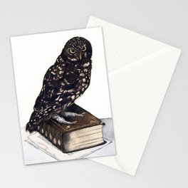 Reading with Owl Stationery Cards