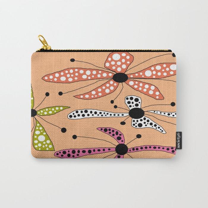 FLOWERY DOTTY / ORIGINAL DANISH DESIGN bykazandholly Carry-All Pouch