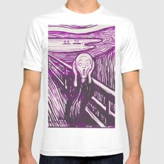 The Scream's Haze (purple) White Mens Fitted Tee MEDIUM