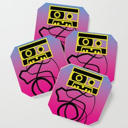 80's problems: Cassette Tape Coaster