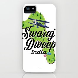 Swaraj Dweep indian travel poster iPhone Case
