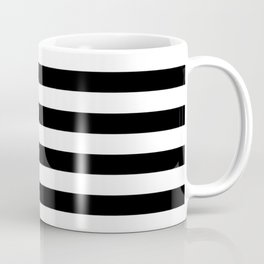 Black & White Stripes Coffee Mug