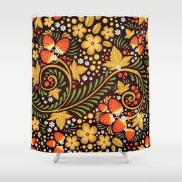Native floral ornament Shower Curtain