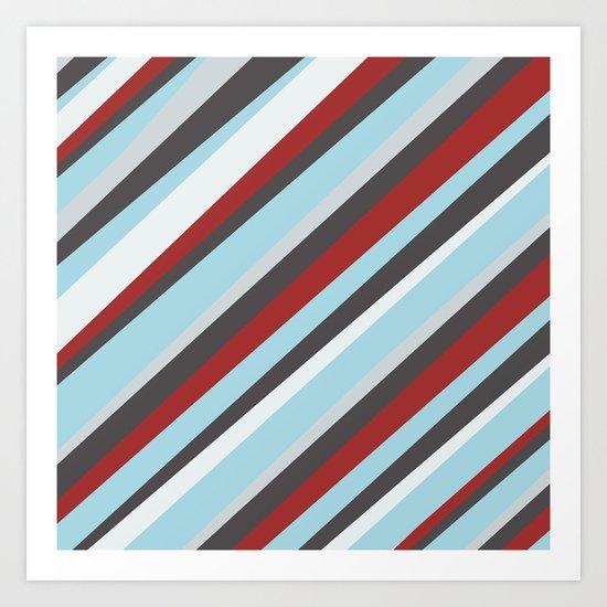 Diagonal : Pattern Art Print