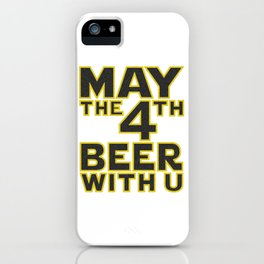 funny beer iPhone Case