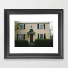 Yellow House Framed Art Print