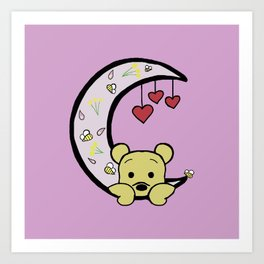 Moon Bear Art Print