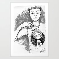 swag Art Prints featuring Swag by Jesus Rodriguez