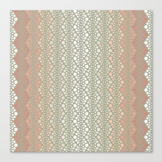 Retro Dotted Pattern 06 Canvas Print