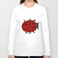 ladybug Long Sleeve T-shirts featuring Ladybug by Stephanie Cole CREATIONS