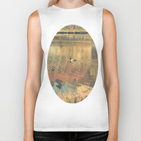 lonely Biker Tanks featuring Lonely by Rose Etiennette