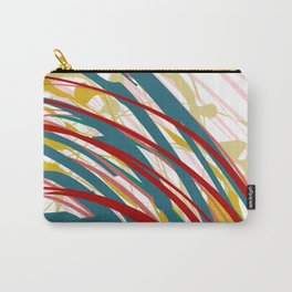 Chaotic Rosy Disorder Abstract Art Carry-All Pouch