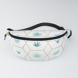 Geometric Succulents Fanny Pack