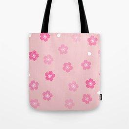 Cheery Cherry Blossom Print Tote Bag