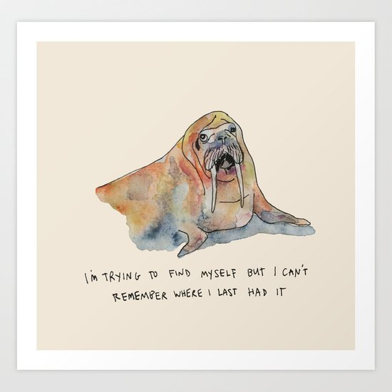 Trying to Find Myself Art Print