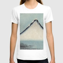 Hokusai, the blue fuji- hokusai,manga,japan,fuji, blue fuji,Shinto T-shirt