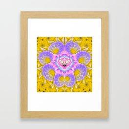 Octopus on Gold Framed Art Print