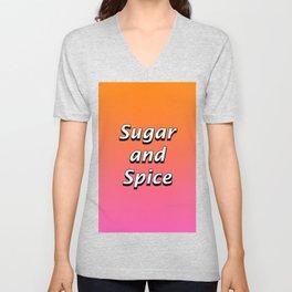 Sugar and Spice Unisex V-Neck