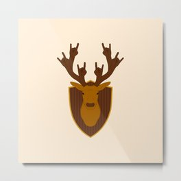 Rock Stag Metal Print