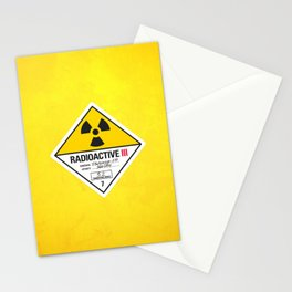 Radioactive sign Back to the future Stationery Cards