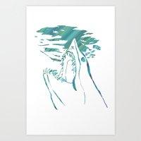 transparent mako shark Art Print