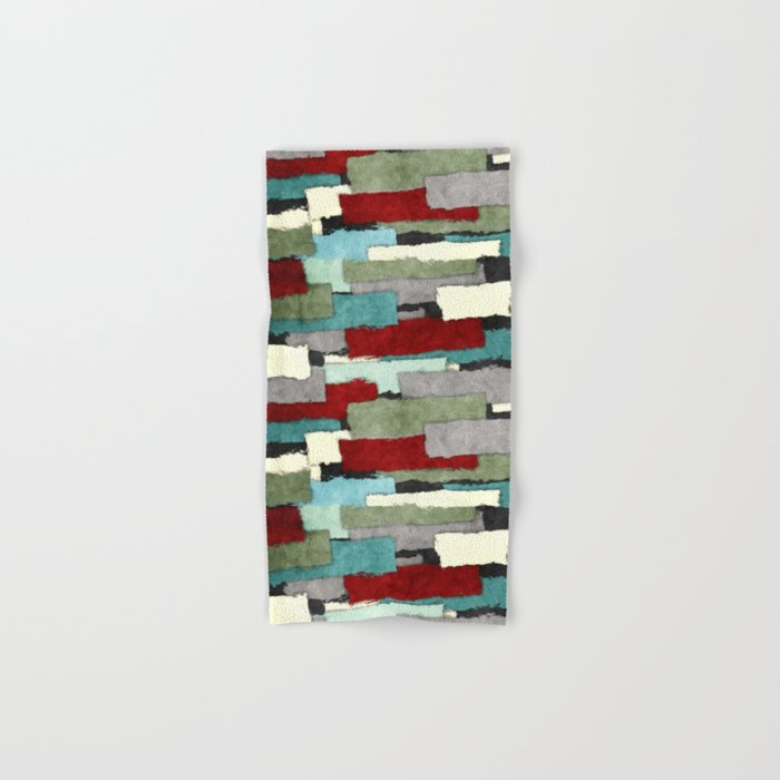 Colorful Patches Abstract Hand & Bath Towel