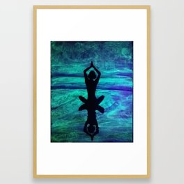 Yoga Glow Framed Art Print